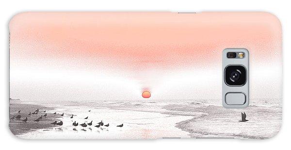Pastel Sunrise Beach Galaxy Case by Tom Wurl
