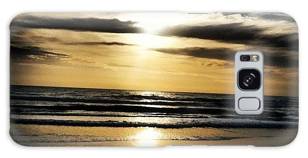 Bright Galaxy Case - Sunrise On The Beach by Lea Ward