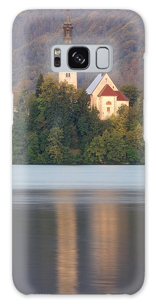 Sunrise Over Lake Bled And The Island Church Galaxy Case