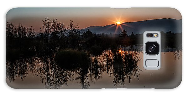 Sunrise Over The Beaver Pond Galaxy Case
