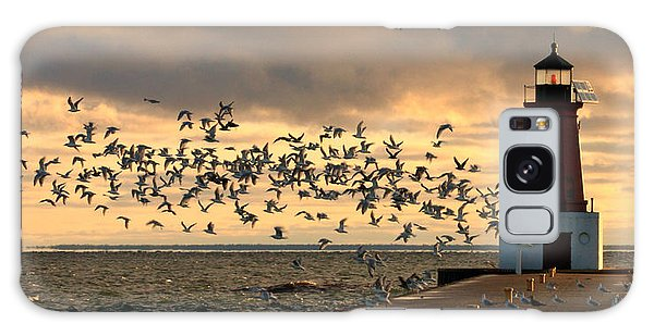 Sunrise Seagulls 219 Galaxy Case