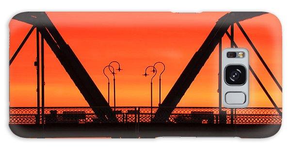 Sunrise Walnut Street Bridge Galaxy Case
