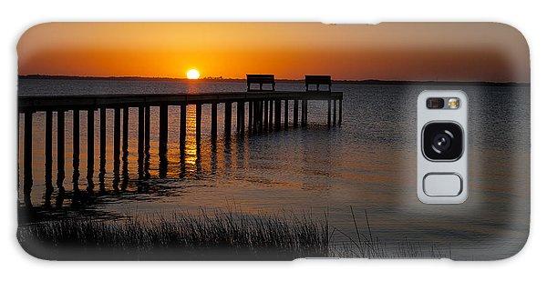 Sunset Across Currituck Sound Galaxy Case