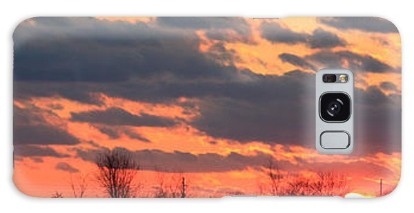Sunset After The Storm Galaxy Case by Ann Murphy