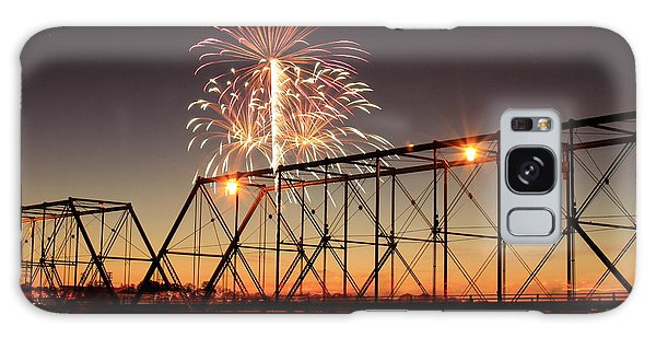 Sunset And Fireworks Galaxy Case