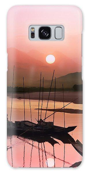 Contour Galaxy Case - sunset at Mae Khong river by Setsiri Silapasuwanchai
