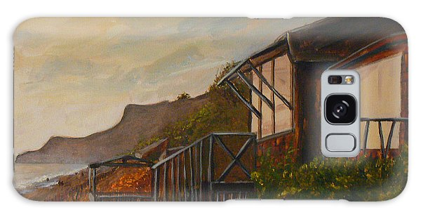 Sunset At The Beach House Galaxy Case by Terry Taylor
