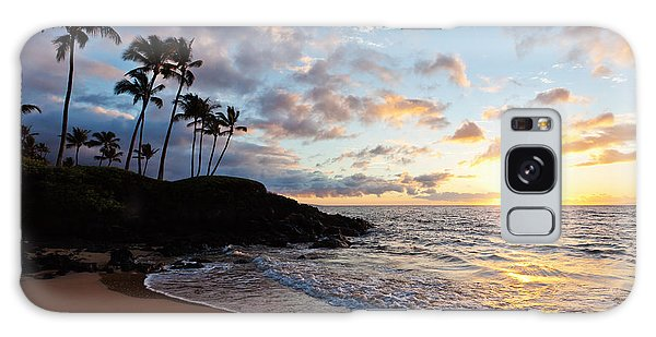 Sunset At Ulua Beach Galaxy Case