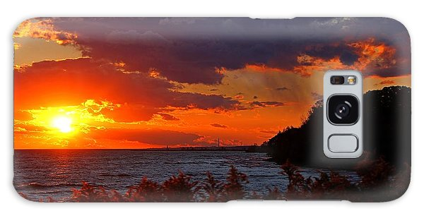Sunset By The Beach Galaxy Case by Davandra Cribbie