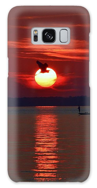 Sunset Fishing Galaxy Case