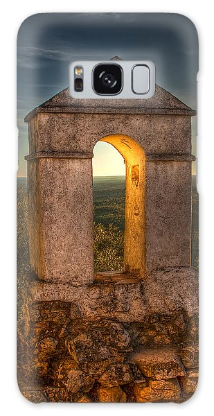 Sunset In Monfrague Castle Galaxy Case