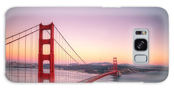 Sunset In San Francisco Galaxy Case by Jim And Emily Bush