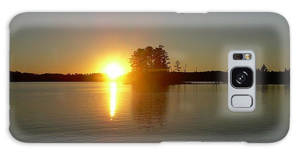 Sunset Juggler Lake Island Galaxy Case