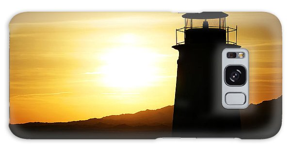 Sunset Lighthouse Galaxy Case
