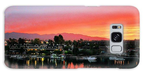 Sunset On Lake Havasu Galaxy Case