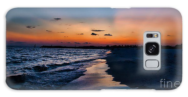 Sunset On The Beach Galaxy Case
