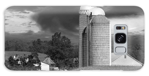 Sunset On The Farm Bw Galaxy Case