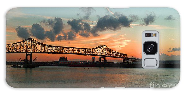 Sunset On The Mississippi  Galaxy Case by Lydia Holly