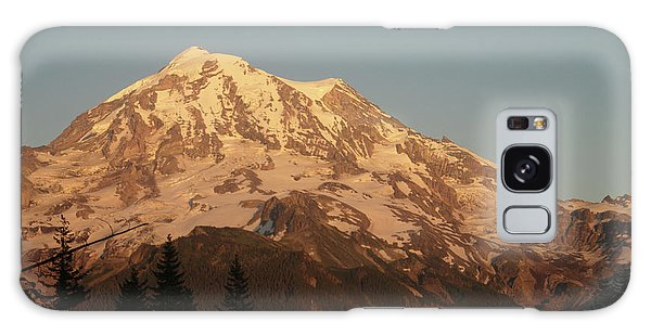 Sunset On The Mountain Galaxy Case