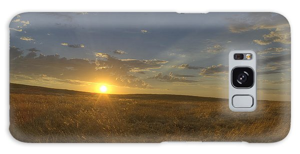 Sunset On The Prairie Galaxy Case