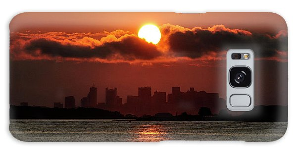 Sunset Over Boston Galaxy Case