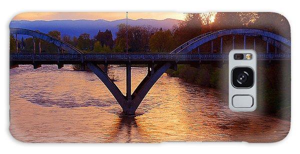 Sunset Over Caveman Bridge Galaxy Case