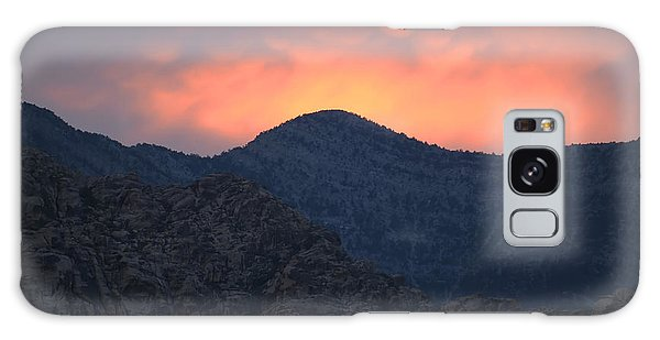 Sunset Over Red Rock Galaxy Case by Art Whitton