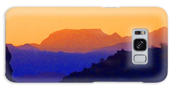 Sunset Over The Sierra Gigantes Galaxy Case