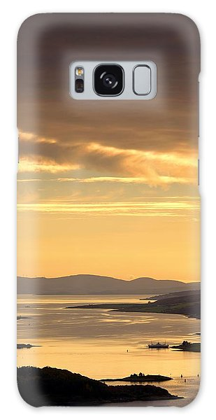 Sunset Over Water, Argyll And Bute Galaxy Case