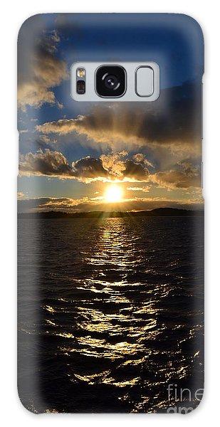 Sunset Over Winnepesaukee Galaxy Case