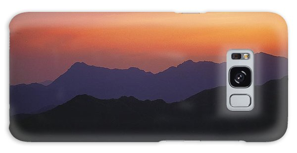 People's Republic Of China Galaxy Case - Sunset Silhouettes The Mountains by Raymond Gehman