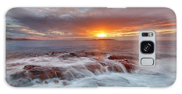 Sunset Tides - Cemlyn Galaxy Case by Beverly Cash