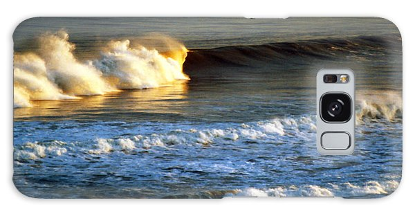 Sunset Wave Rockaway Beach Nyc Galaxy Case by Maureen E Ritter