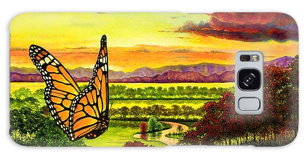 Sunshine Traveler-monarch Galaxy Case