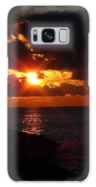 Galaxy Case - Superior Sunset by Bonfire Photography