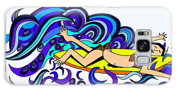 Galaxy Case - Surf Logo by Karen Elzinga