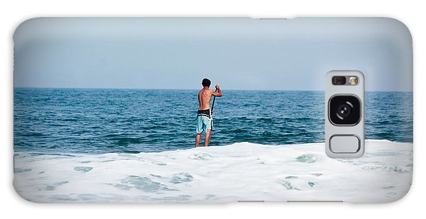 Surfer Waiting For Next Wave Galaxy Case by Ann Murphy