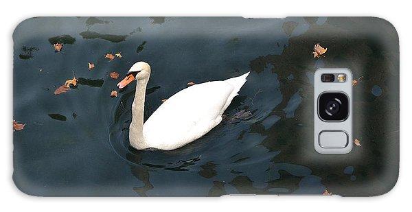 Swan In Autumn Galaxy Case by Kathleen Pio
