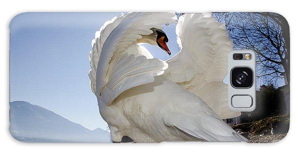 Swan In Backlight Galaxy Case