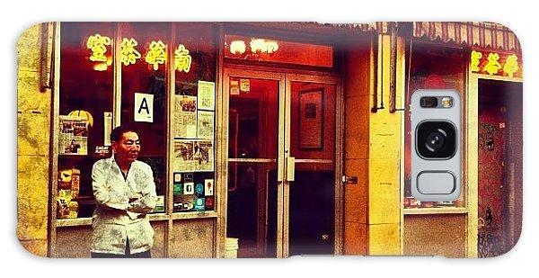 City Galaxy Case - Taking A Break In Chinatown by Luke Kingma