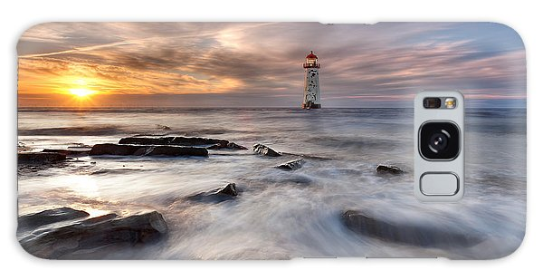 Talacre Lighthouse  Galaxy Case by Beverly Cash