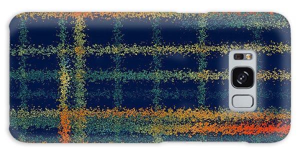 Fall Galaxy Case - Tangerine Plaid by Bonnie Bruno