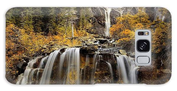 Tangle Falls, Jasper National Park Galaxy Case by Keith Kapple