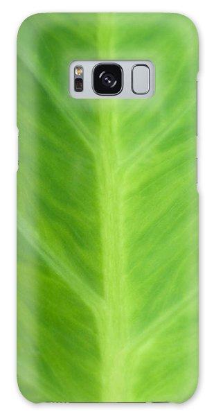 Taro Or Elephant Ear Leaf Galaxy Case by Denise Beverly
