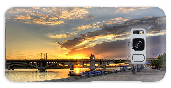 Tempe Town Lake Sunrise Galaxy Case