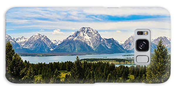 Teton June Panorama Galaxy Case