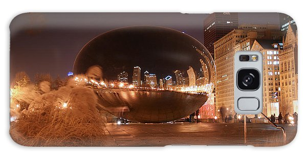The Bean On A Winter Night Galaxy Case