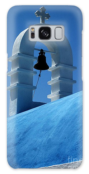 The Bell Tower In Mykonos Galaxy Case by Vivian Christopher