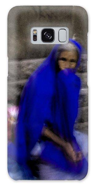 The Blue Shawl Galaxy Case by Lynn Palmer