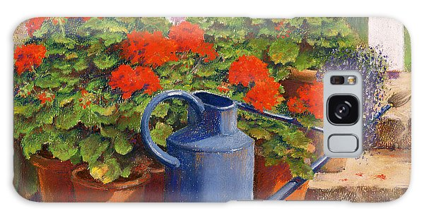 Gardens Galaxy Case - The Blue Watering Can by Anthony Rule